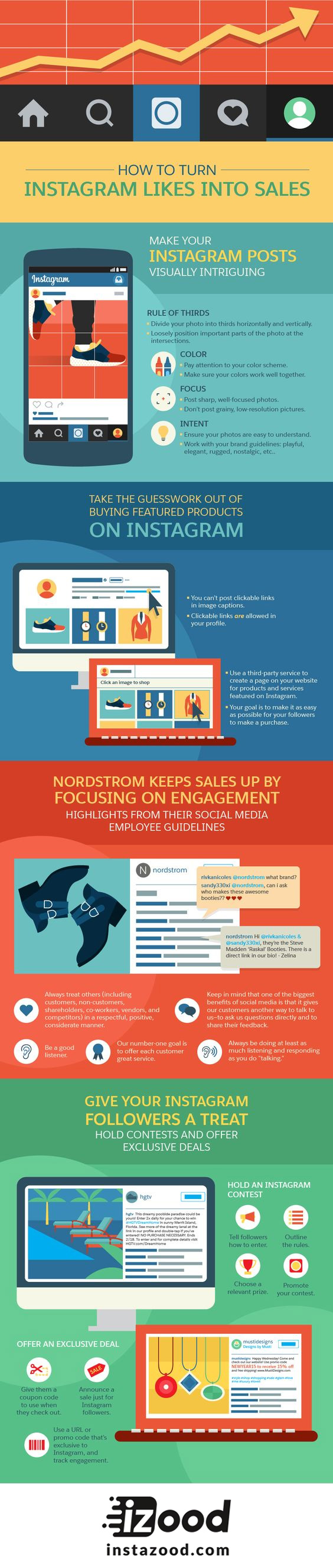 How to Turn Instagram Likes Into Sales #infographic