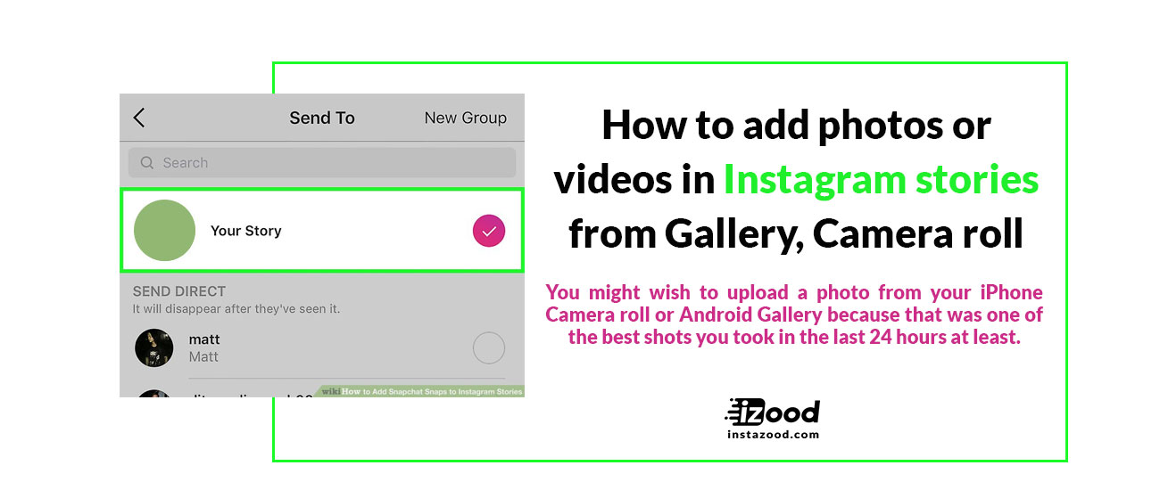 how to add video to instagram profile