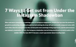 7 Ways to Get out from Under the Instagram Shadowban