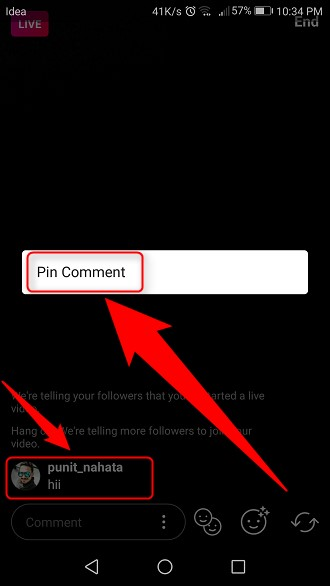 How to Pin a Comment on Instagram Live Video