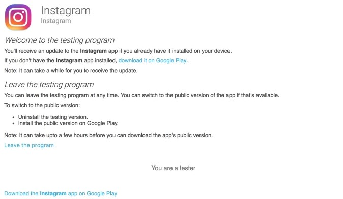 Instagram Launches an Alpha Testing Program on iOS and Android