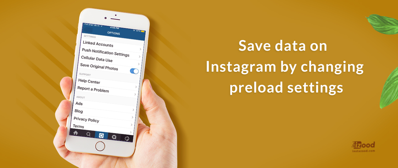 Save data on Instagram by changing preload    | Instazood