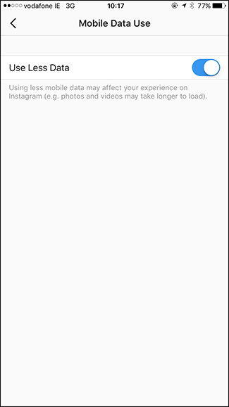How to Make Instagram Use Less Data