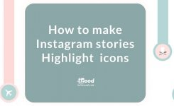 How to make Instagram stories Highlight  icons