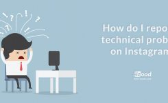 How do I report a technical problem on Instagram?