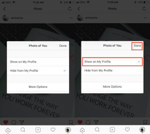How to Unhide Tagged Photos/Videos on Instagram