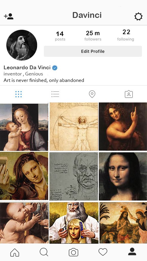 If Historical Painters Had an Instagram Account, What would it Look Like?