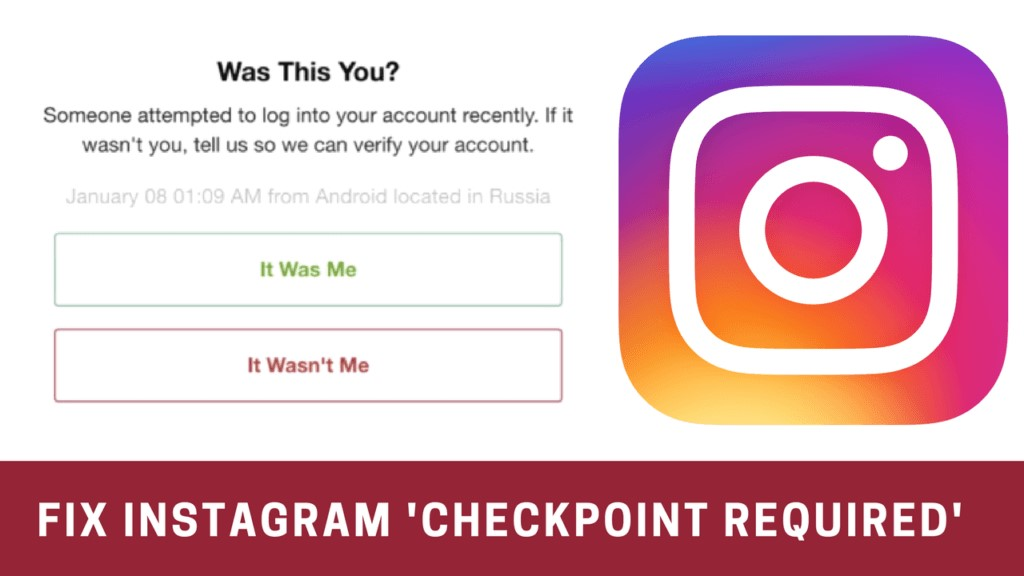 """How to Fix """"checkpoint required"""" Error on Instagram"""