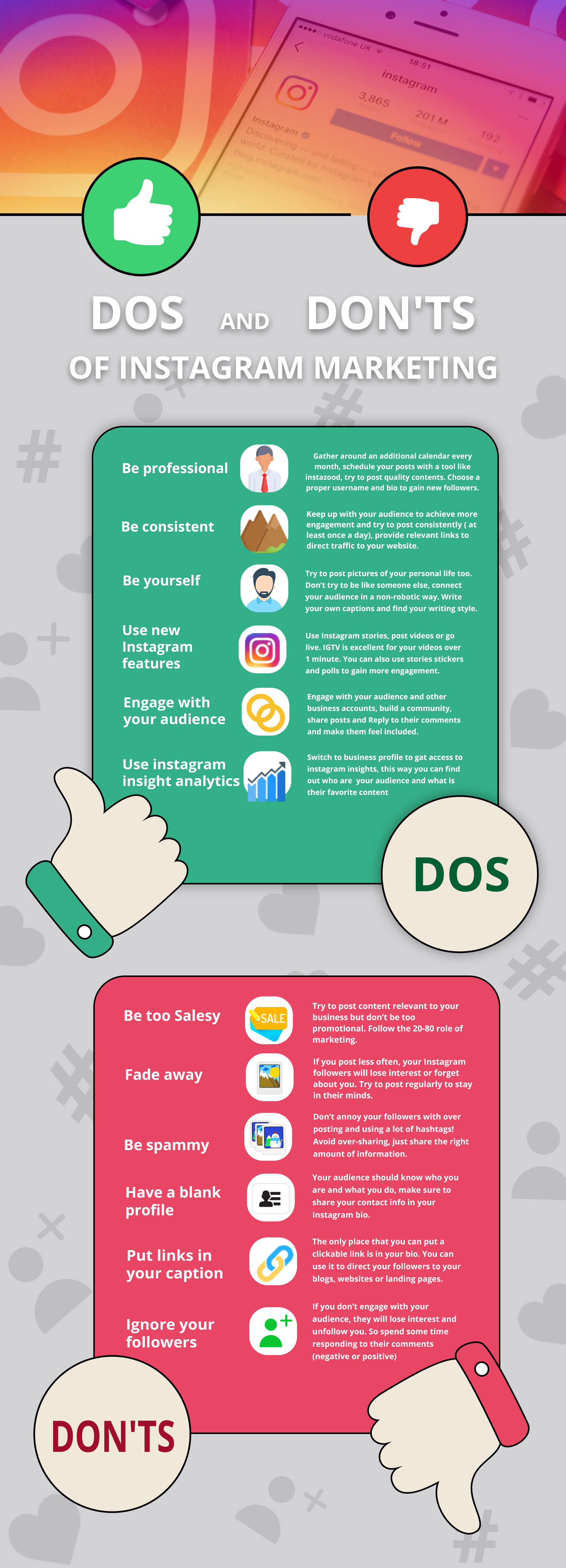 THE DOS AND DON'TS OF INSTAGRAM MARKETING
