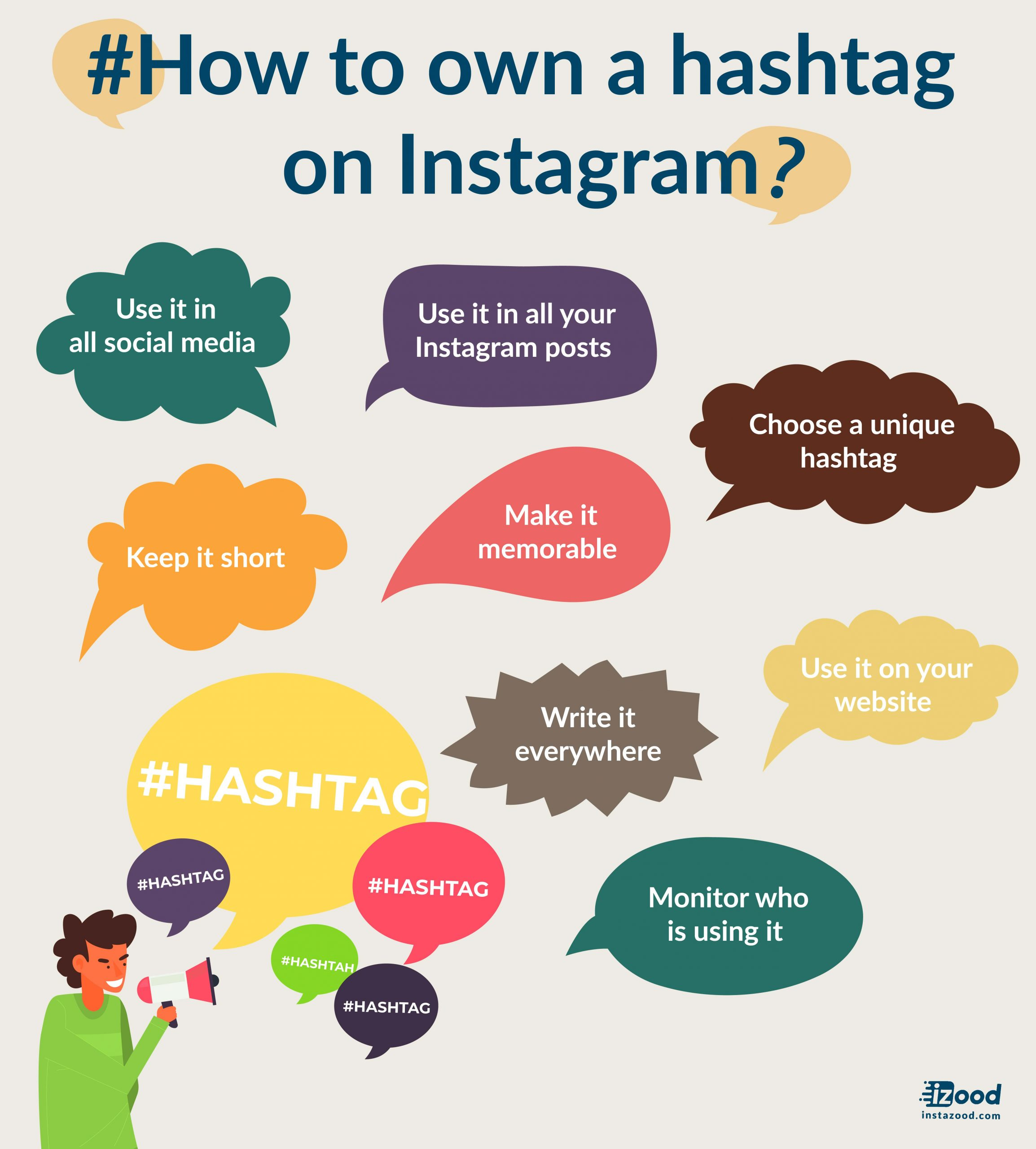 Own an Instagram hashtag infographic