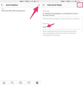 How To Use Quick Replies On Instagram Direct?
