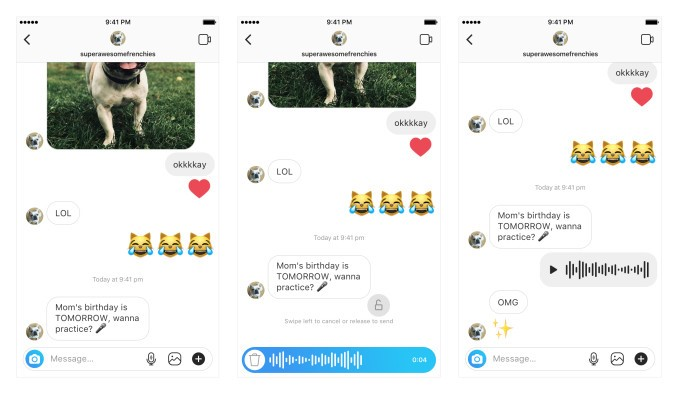 Instagram now Lets you to Send Audio Messages on DMs