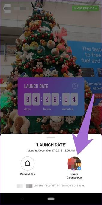 New Countdown sticker for Instagram Stories