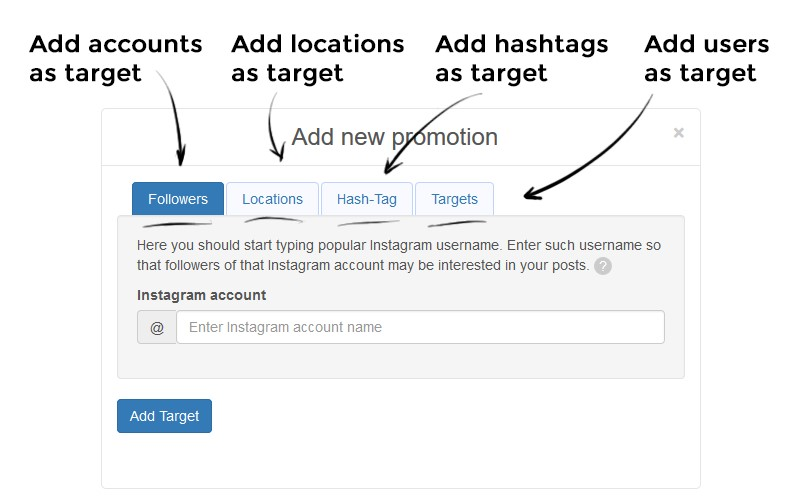 How to Find, Add and Manage Targets on Instazood