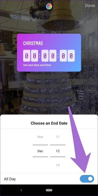 New Countdown sticker for Instagram Stories