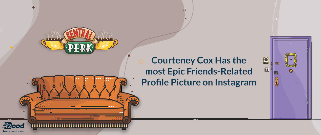Courteney Cox Has the most Epic Friends-Related Profile Picture on Instagram