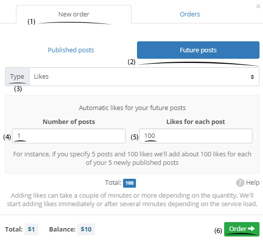 account and hashtag targets in instazood