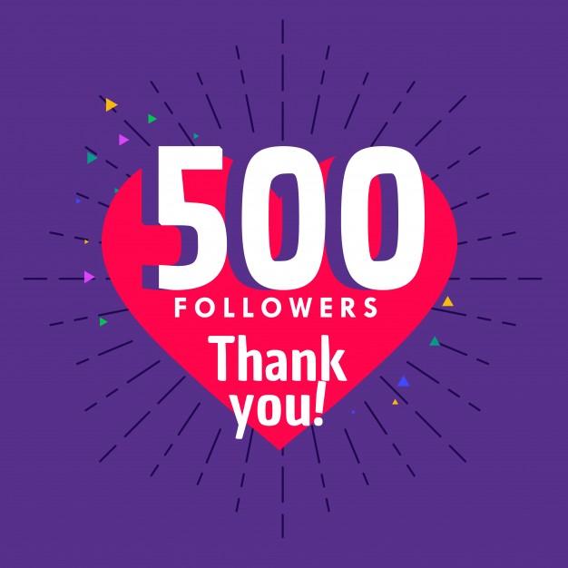 500 Instagram follower