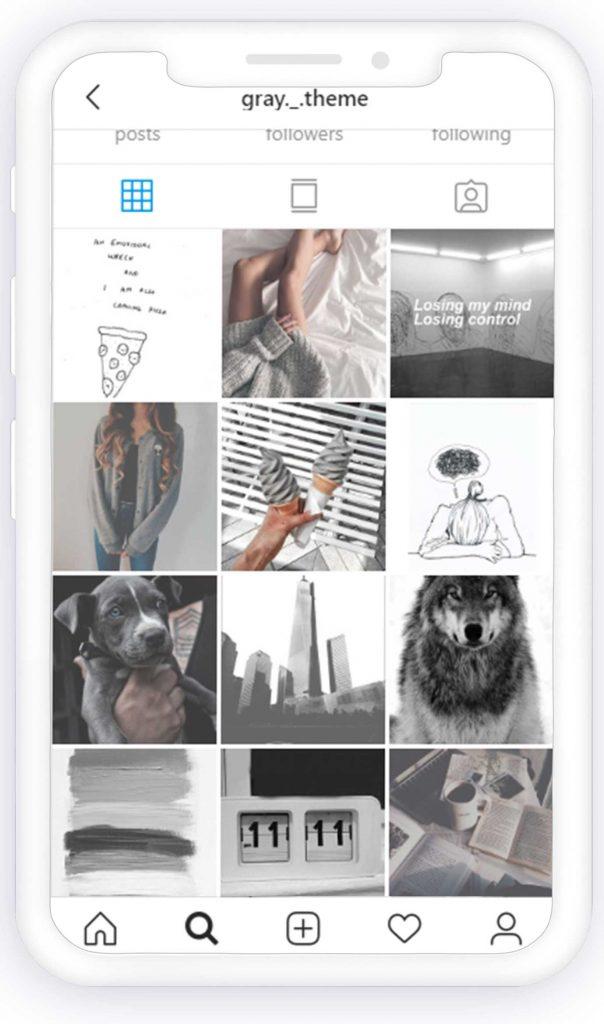 gray theme