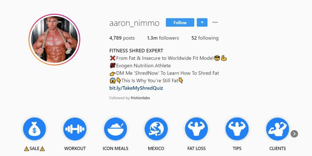stories highlight on the Instagram profile is a useful place to show a summary of an account