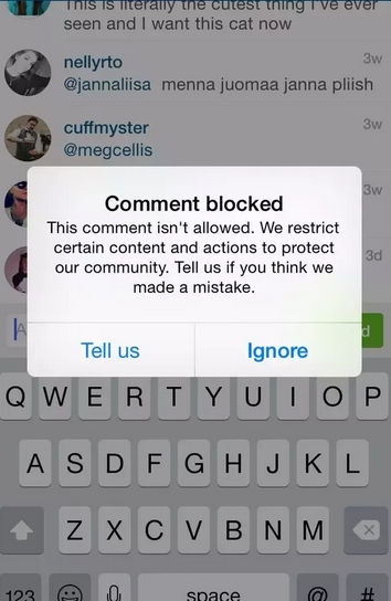 comment blocked