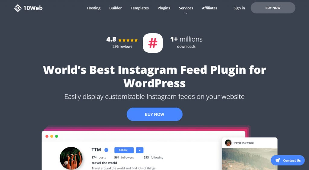 10web Instagram feed WordPress plugin