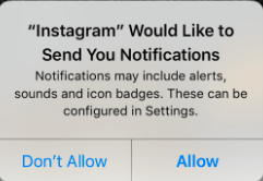 Enable Instagram notification
