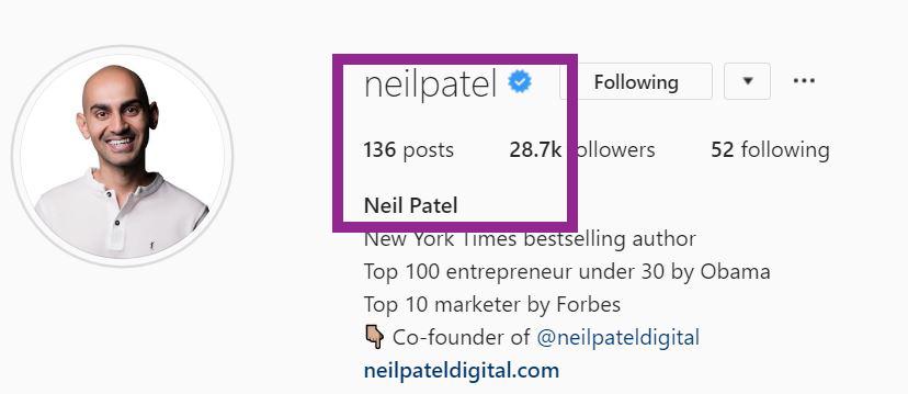 Instagram name verification