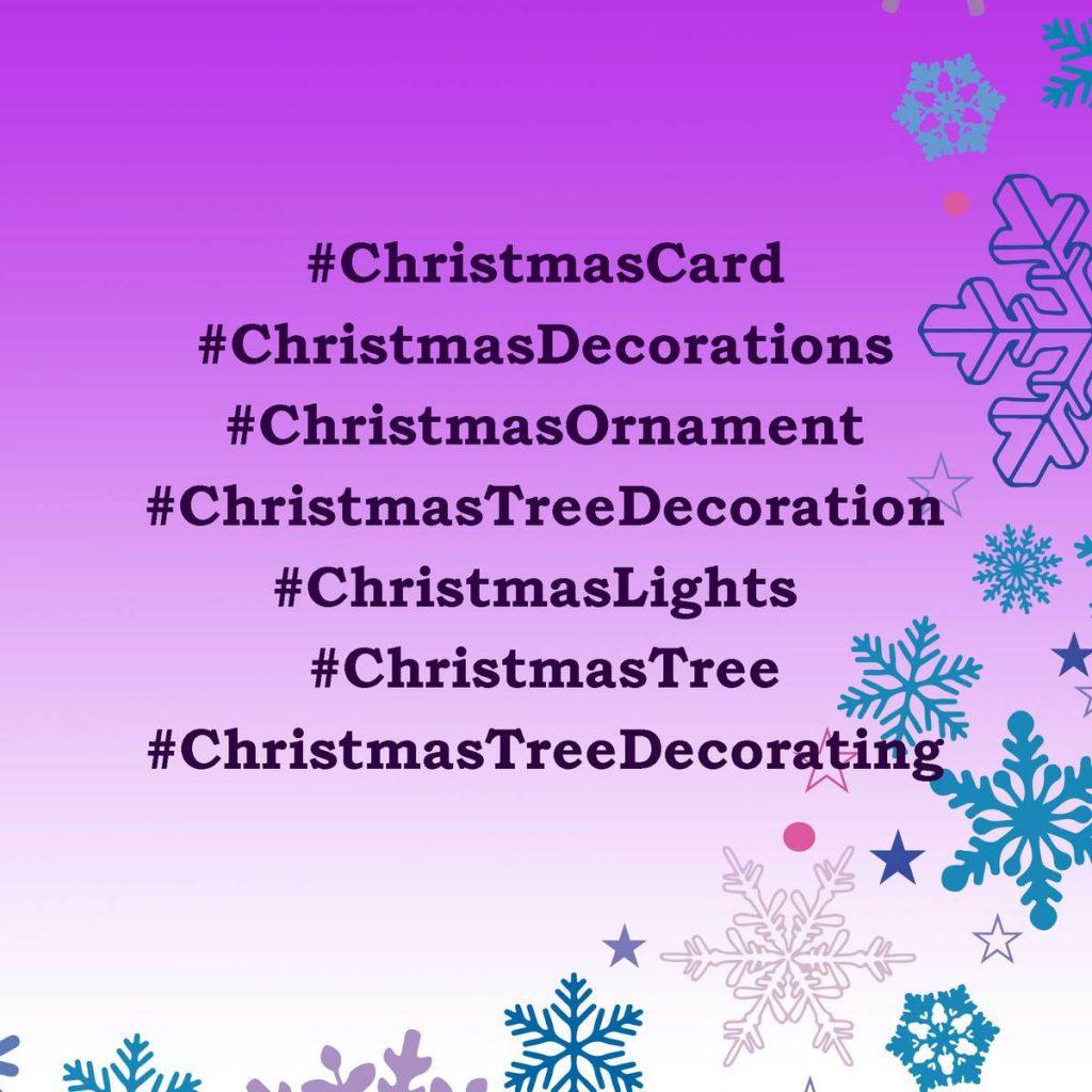 Christmas hashtags for DIY or Interior Designers