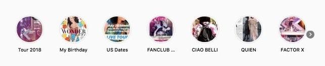 Instagram bio highlight