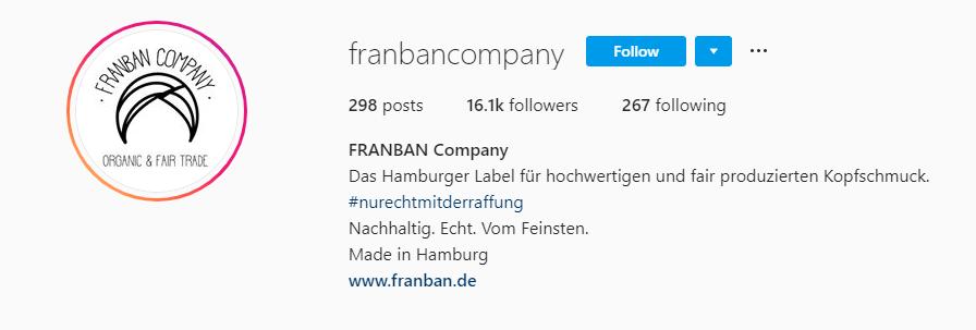 Instagram bio style