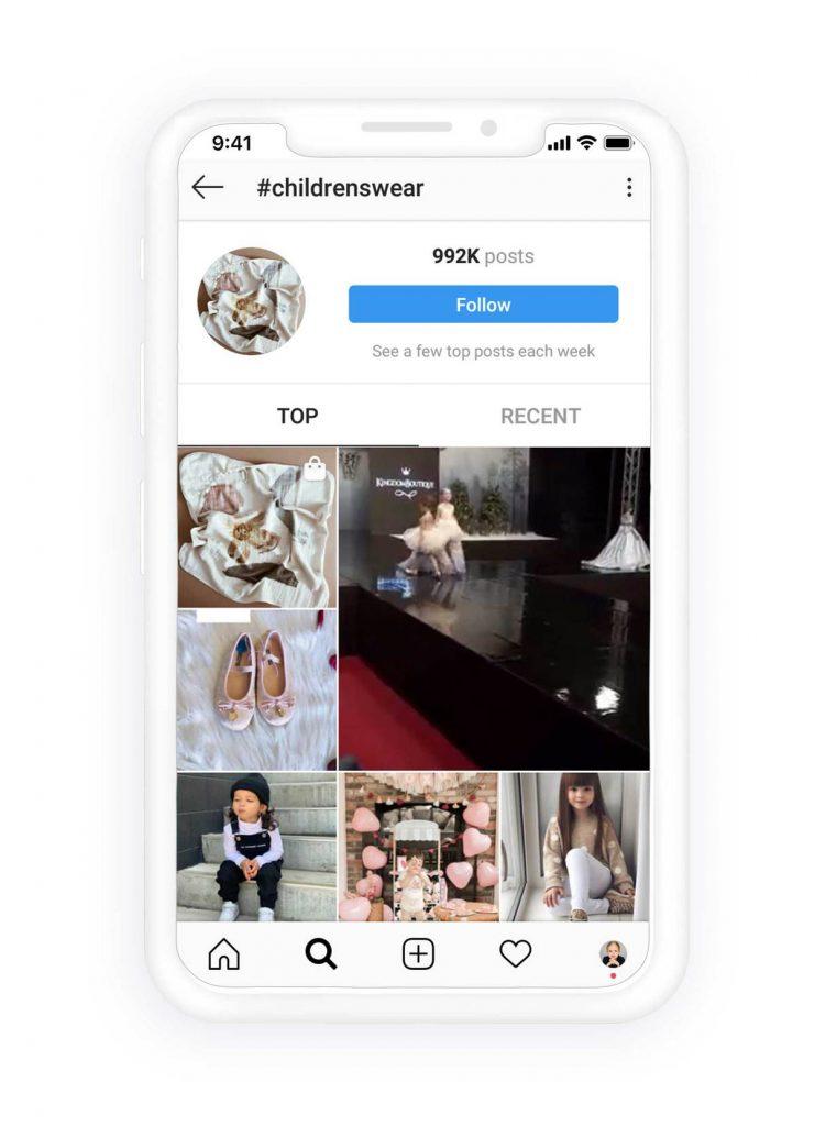 publicaciones principales de hashtags de Instagram