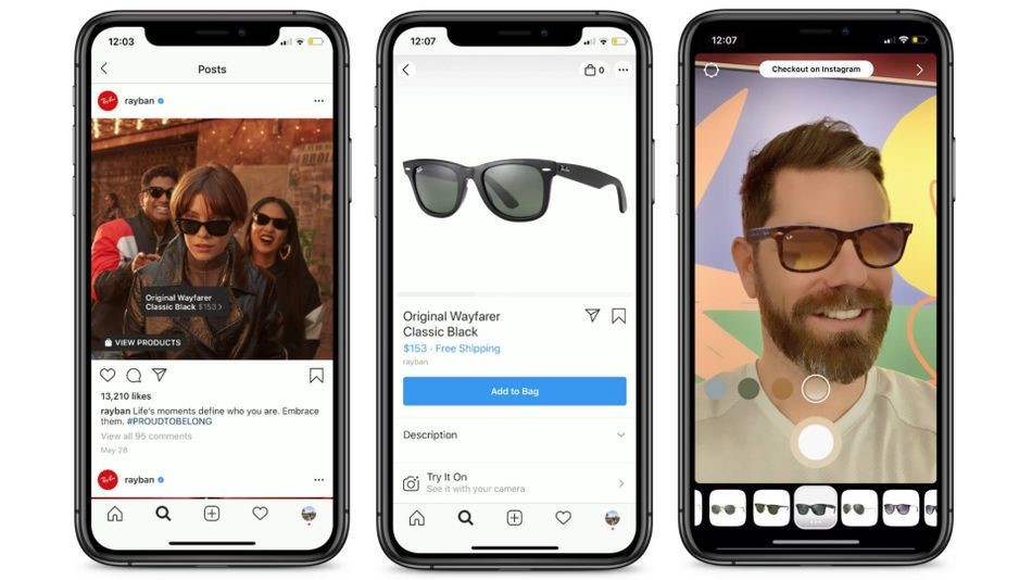 AR shopping feature with a brand
