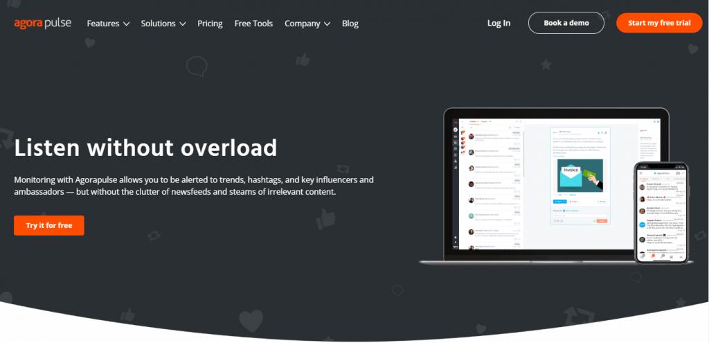 Agorapluse social listening tool