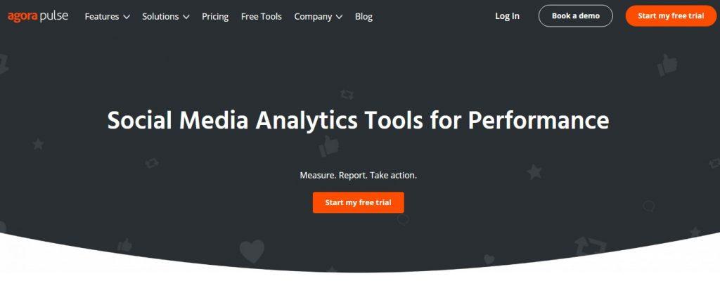 Agorapulse social media analytics