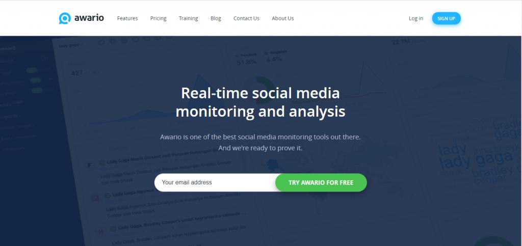 Awario social monitoring