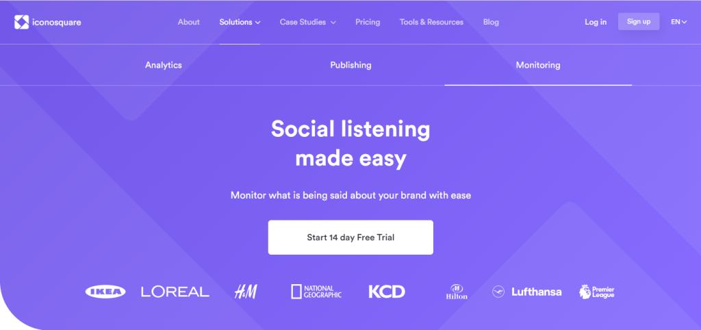 Iconsquare social listening tool