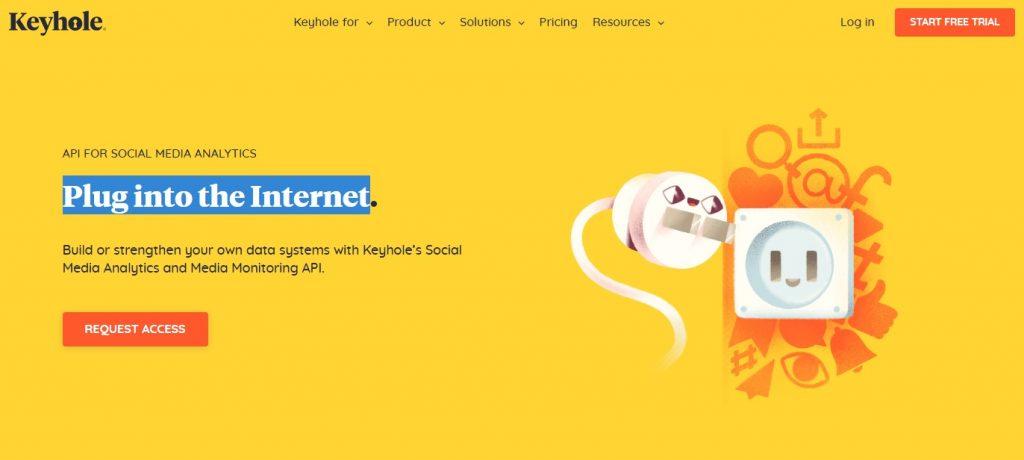 keyhole social media analytics tool