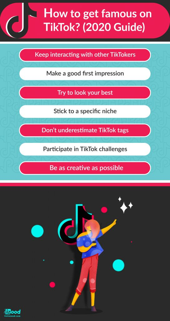 how to get famous on tiktok (infographic)