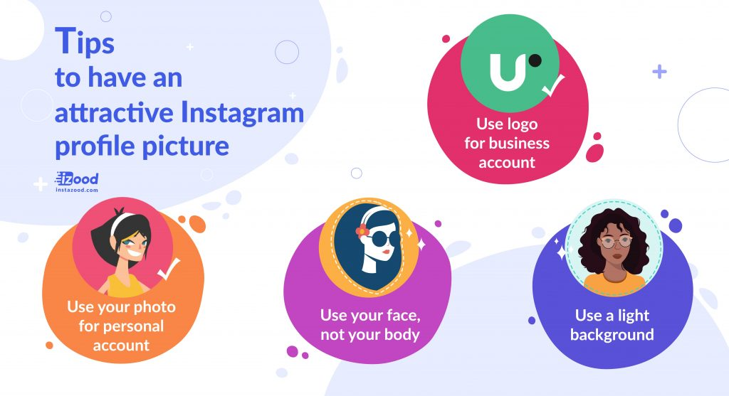 Tips to have an attractive Instagram profile picture (infographic)