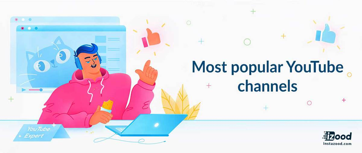Most popular YouTube channels